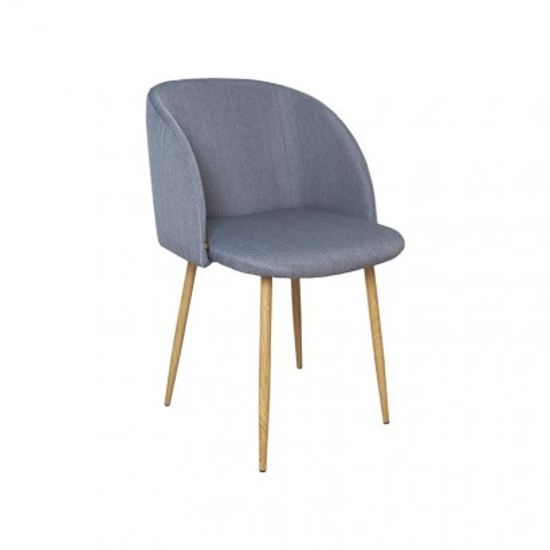 YPOS Chaise en Tissu 55.5x60xH83cm GRIS