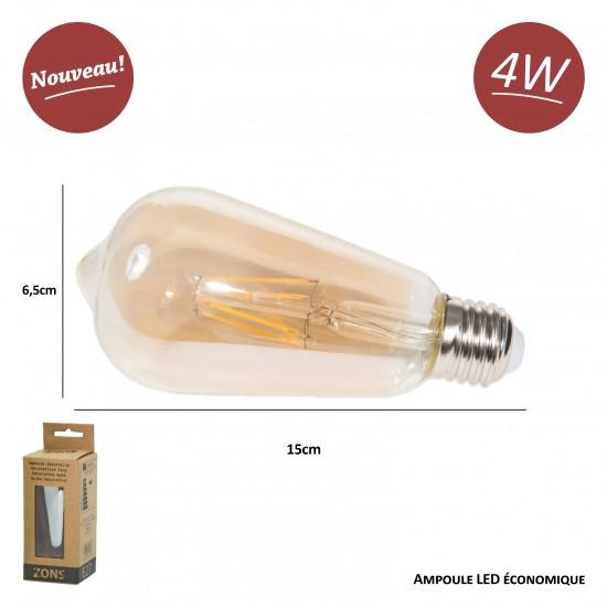 Ampoule LED Edison, Lampe Décorative Ampoules à incandescence Rétro Edison Lampe 6 Pack [Classe énergétique A+]