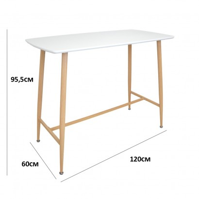 Dining room table L120 * l70 * H75cm White