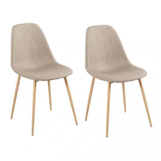 Chair DESIGN Metal Scandinave GRAY 45x55xH85cm