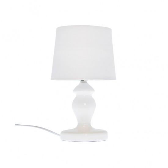 Lampe À Poser Céramique Brillante 3 Couleurs D15xH30cm BLANC