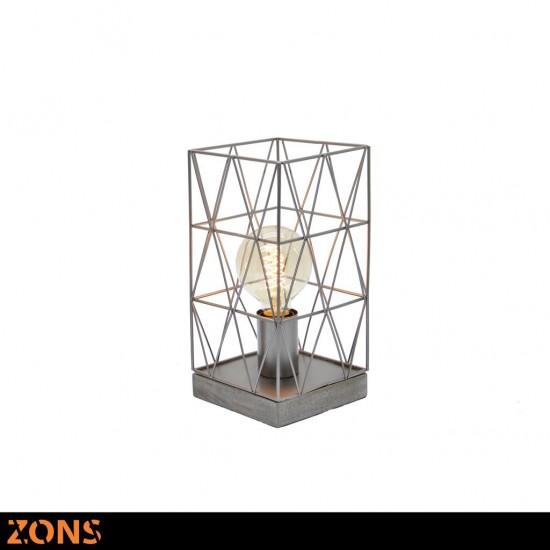 Lampe À Poser Métal H27cm 3 Couleurs Assortis + Ampoule EDISON BEIGE