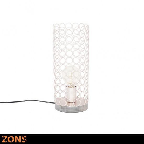 Lampe À Poser En Métal 14,5xH35cm 4 Couleurs Assorties + Ampoule EDISON ROSE